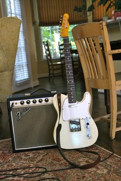 Fender Duo - 1966 Fender Telecaster Repro & 1968 Fender Drip Edge Princeton Non Reverb Fender Stratocaster, Telecaster Custom, Fender Guitars, Acoustic Guitars, Learn Guitar Chords, Music Guitar, Cool Guitar, Fender Electric Guitar, Cool Electric Guitars