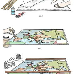Follow these step-by-step instructions to create an authentically vintage-looking map. - FamilyCircle.com