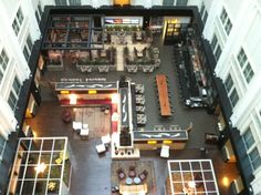 gorgeous hotel, great bar for drinks (not a PDX-type bar, more LAX) // the Nines Hotel in Portland, OR