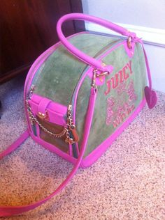 Juicy Couture Dog Carrier | eBay Yorkie, Chihuahua, Wonder Pets, Dog Bag, Dog Carrier, All Things Cute, Pet Accessories, Juicy Couture, Puppy Love