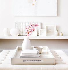 white tray + shelving