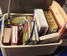 Prayer Basket.It has Bible,Devotional,a couple journals,study method book,journal pens,prayer craft sticks,etc.Loved this idea so much I have to make one for myself!