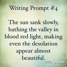 Writing prompt. Desolation.