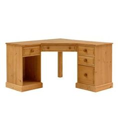 Dorchester Pine Corner Computer Desk