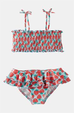 Sweet, playful, timeless. Mini Boden Two Piece Swimsuit (Little Girls & Big Girls) available at #Nordstrom