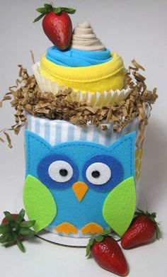 Mini Diaper Cake DuoTM Custom Theme Topped with by BabySweetTreats, $24.00