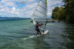 Messery , Lac Léman Windsurfing, Sailing, Boat, Lake Geneva, Candle, Dinghy, Boats