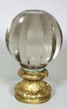 Antique French Crystal Dore Bronze Newel Finial Boule d'escalier, Shop Rubylane.com