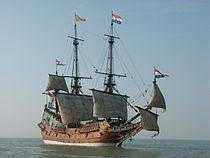 Dit is de Batavia.De Batavia was een Nederlands spiegelretourschip uit de 17e eeuw. Dit is het bekendste Nederlandse Handels schip. De Batavia was het schip van Jan Coen. Het deed het in het begin van de VOC goed. Maar later ging het schip en de handelsproducten achteruit. Het wrak ligt in de Shipwreck Galleries in Fremantle.