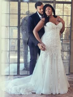137f3ab85ac Maggie Sottero - QUINCY This vintage-inspired wedding gown features a  bodice of pearls and