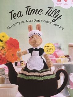 Excited to share the latest addition to my #etsy shop: Alan Dart's Tea Time Tilly Knitting Pattern. Simply Knitting, Simply Crochet, Knit Or Crochet, Crochet Hats, Alan Dart, Knitting Magazine, Tea Cozy, Afghan Blanket, Knitted Dolls