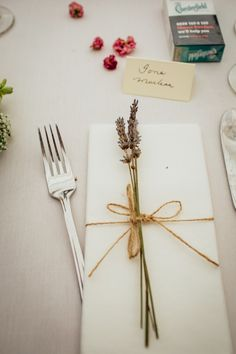 Lavender Place Setting Floral Country Folk Wedding http://www.colinclay.com/