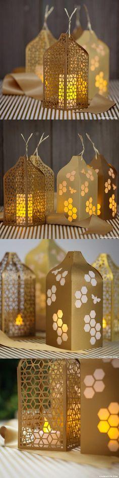 Sutiles lamparitas de papel metálico  Vía liagriffith                                                                                                                                                                                 Más