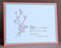 CC376 Age by tessaduck - Cards and Paper Crafts at Splitcoaststampers