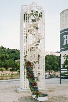 laisné roussel creates flower pavilion for the lyon architecture biennale