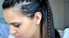 Que tal um penteado inovador, que mistura os penteados mais clássicos em um só? Aprenda a faze uma trança lateral com rabo de cavalo. (Foto: Divulgação)