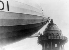 Boarding the British airship R101 (the world's largest airship) which crashed in France en-route to India on its maiden voyage today in 1930