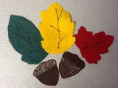 Felt Board Ideas: Fall Preschool Felt Ideas: Squirrel and Acorns