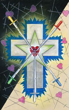 5 d'épées - The Star Tarot par Cathy McClelland