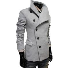almost architectural look to this jacket-slant of buttons, neck, fit.