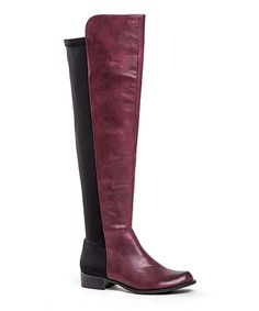 Take a look at this French Blu Burgundy Harlem Shake Boot on zulily today!