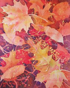 An easy & fun way to practice negative painting is by layering leaf shapes one on top of the other. In a previous post I showed you the simplicity of negative painting ( ). Watercolor Negative Painting, Watercolor Leaves, Painting & Drawing, Space Painting, Flower Watercolor, Painting Videos, Watercolour Tutorials, Watercolor Techniques, Art Techniques