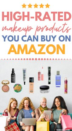 You can find these highly rated makeup products on amazon.  These drugstore makeup products and high end brand makeup products can be yours in 2 days if you are an amazon prime member too!  No matter what your makeup budget is, you can find high rated popular beauty products on Amazon! Amazon Beauty Products, Lush Products, Best Makeup Products, False Lash Effect Mascara, Instant Age Rewind Concealer, Facial Scrubs, Facial Masks, Maybelline Fit Me Foundation, Best Bronzer