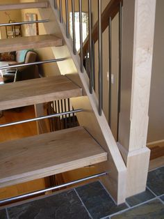 Stair safety for open riser stairs