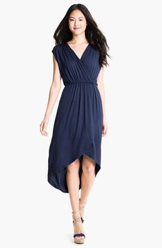 Loveappella Faux Wrap High Low Dress (Petite) available at #Nordstrom