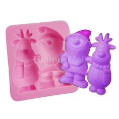 Christmas Snowman Santa Silicone Fondant Mould Cake Decor For Soap Candy
