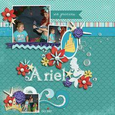 Ariel Majestic Mermaid | Bundle by Dream Big Designs http://scraporchard.com/market/Majestic-Mermaid-Bundle-Scrapbooking.html Fuss Free Free Bee 117 By Fiddle Dee Dee Designs