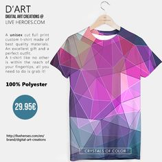 #polychromatic #colorful #abstract #art #modern #stylish #geometry #triangles #polygons #lines #mesh #grid #tshirt #unisex #liveheroes #liveheroesshop #digitalartcreations