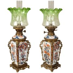 1stdibs.com | An Antique Pair of Table Lamps in the 'Japonisme' manner