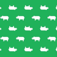 Honest Hippos make adorable wall paper for a nursery or play room! #pinhonest