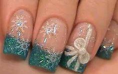 Green/Silver nails