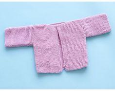 Rectangle Garter Baby Cardigan Pattern (Knit)