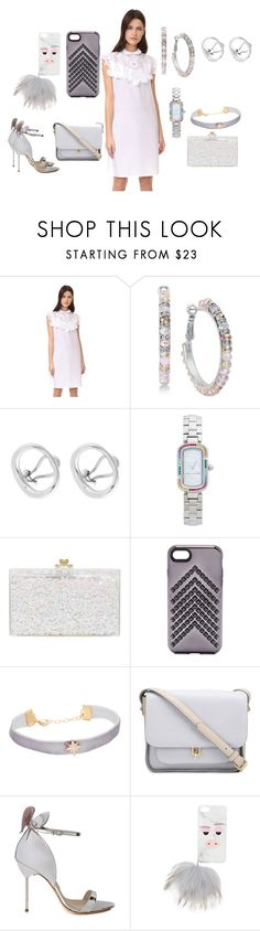 """Purely White"" by hillarymaguire ❤ liked on Polyvore featuring Nina Ricci, Charlotte Chesnais, Marc Jacobs, Ashlyn'd, Rebecca Minkoff, Shashi, 10 Crosby Derek Lam, Sophia Webster, Iphoria and fabulous"