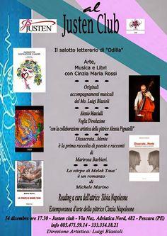 Alessio Masciulli e Michele Marino al Salotto Letterario di Odilla al Justen Club