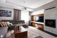 Zabudowa wnęki z telewizorem - zdjęcie od Meble Kalwaryjskie - Salon - Styl Nowoczesny - Meble Kalwaryjskie