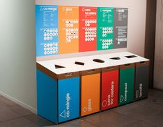 Start your offce recycling initiatives with these recycling bin office ideas. Over forty recycling bin ideasf or your office. Feed your design ideas now. Recycling Station, Diy Recycling, Recycle Cans, Recycling Center, Plastic Recycling, Recycling Projects, Recycling Information, Joss Stone, Garbage Can