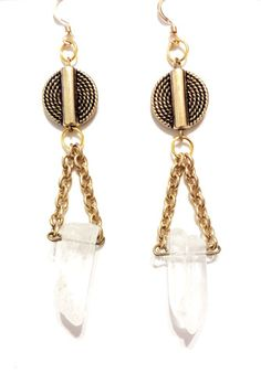 Simply stunning, potent, and extremely lightweight. They are the perfect mismatched earrings. No two crystals are exactly the same and this what makes them so perfect. Crystals are one of the most powerful healing natural gemstones.