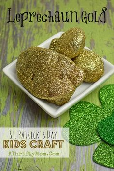 St Patricks Day Crafts For kids, Easy to make DIY Pot of golf rocks. Perfect for preschool and older, school craft