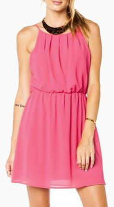 Ellen Dress in Fuchsia