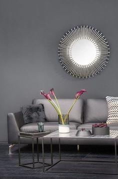 »Black Beauty« | Black is back! Leder-Sofa Jan, Vase Layers, Kissenhülle Paz, Wandspiegel Splash