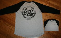Kid Rock Birds Nest 2015 World Tour Sold Out Concert Raglan T-Shirt Men's Large #SportTek #GraphicTee