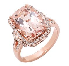 Rose Gold Morganite. Used to loathe rose gold, but with the right stone color it really is pretty.