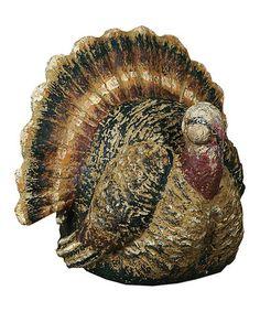 Look what I found on #zulily! Festive Turkey Figurine #zulilyfinds