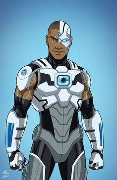 Cyborg [teen] commission by phil-cho on DeviantArt Cyborg Dc Comics, Dc Comics Art, Marvel Dc Comics, Anime Comics, Teen Titans, Comic Books Art, Comic Art, Les Nations Unies, Univers Dc