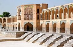 <p><strong>Where: </strong>Isfahan, Iran</p><p>Located on the Zayandeh River, the Khaju Bridge works... - Khaju Bridge