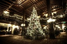 Hotel Del Coronado, San Diego, California - Lobby at Christmas